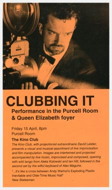 Kino Club at the Purcell Room